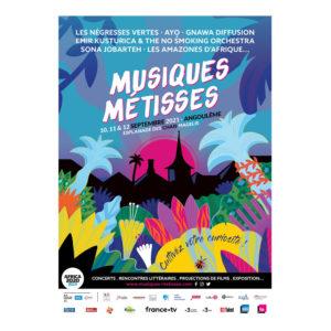 Affiche 2021 du festival Musiques Métisses à Angoulême