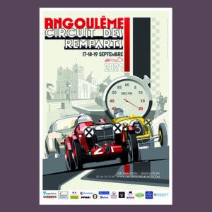Affiche abribus du Circuit des Remparts 2021